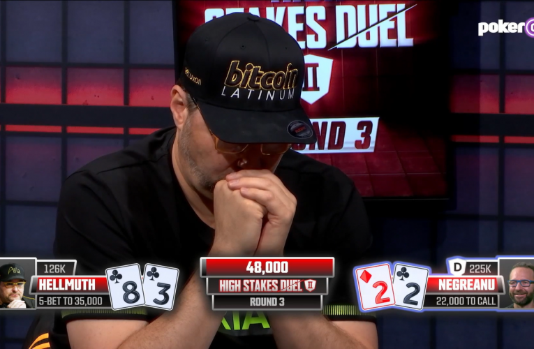 Cooler Goes Phil Hellmuth's Way in Marathon Match Win Over Daniel Negreanu